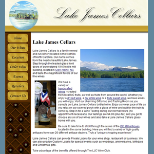 Winery Web Site example